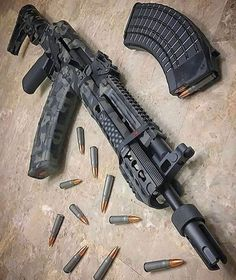 Tactical Squad — rebelarmscorp takes a picture of a. Weapons Guns, Guns And Ammo, Pistola Airsoft, Armas Airsoft, Custom Guns, Custom Ak47, Assault Rifle, Cool Guns, Military Weapons