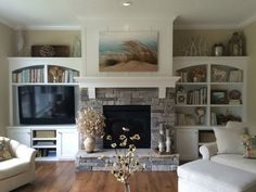 Image result for fireplace with tv off to the side