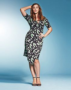 1097b04b34 BESPOKEFit Mock Wrap Dress - Standard   Marisota Plus Size Maxi Dresses,  Day Dresses,