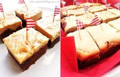 Brownies mit Erdnussbutter-Topping | peanutbutter brownies | sweet & salty