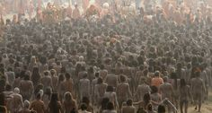 Staggering pictures from the world's largest festival as Hindu pilgrims bathe naked in the Ganges for Kumbh Mela Kumbh Mela, Visit India, Photographs Of People, India Travel, Pilgrimage, Incredible India, People Around The World, Vacation Spots, Wonders Of The World