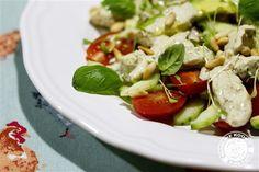 Marijke kookt: Slaatje met kip en pesto-limoen dressing