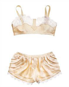 5786b7ab0a lace-detail silk satin charmeuse Retro Lingerie