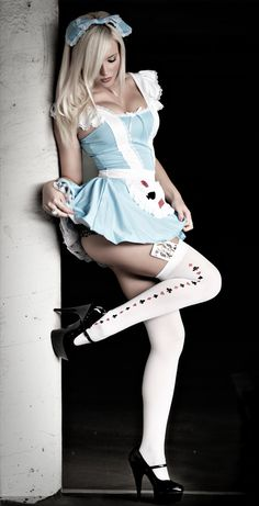 Costumes.....Costumes .....and more Costumes go together with Pin-Up Photography .... this one makes sweet, innocent Alice ...provocative ....Nice pose and Picture ...Nice Alice details....