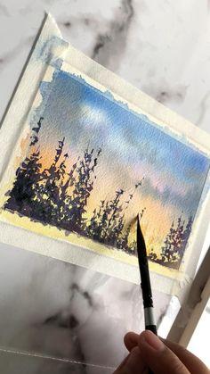 Watercolor Paintings For Beginners, Watercolor Art Lessons, Watercolor Art Paintings, Abstract Watercolor, Watercolor Tips, Beginner Painting, Painting Lessons, Painting Tips, Watercolors