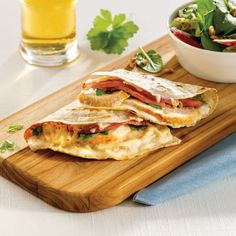 Pizza à la fondue chinoise - 5 ingredients 15 minutes Tortillas, Quesadillas, Chop Suey, Pitta, Cordon Bleu, Mets, Tex Mex, Fajitas, Enchiladas