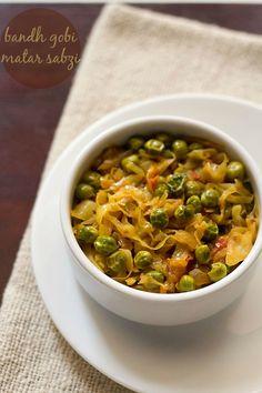 Bandh Gobhi Matar Recipe | Patta Gobhi Matar Recipe on Yummly. @yummly #recipe