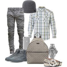 A menswear look from July 2016 featuring men's casual shirts, mens biker jeans and gucci mens belt. Browse and shop related looks. Dope Outfits For Guys, Swag Outfits Men, Outfits Hombre, Boys Fall Fashion, Mens Fashion Wear, Men's Fashion, Sporty Fashion, Fashion Women, Winter Fashion