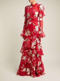 3386e17477dcf Evangeline Gertrude-embroidered silk-organza gown | Erdem |  MATCHESFASHION.COM US