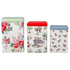 Set of 3 Spray Flowers Storage Tins | Billie X Spray Flowers | CathKidston