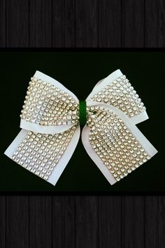 """Rhinestone 3"""" Cheer Bow Assorted Color Ribbons Available"""