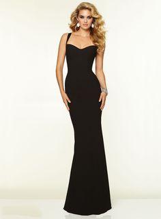 Simple Black Floor Length Gown