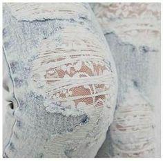 Detalhe em jeans com renda