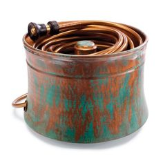 Patina Copper Hose Pot