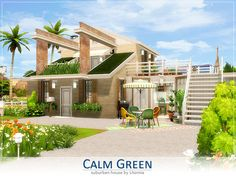 Traditional, suburban house for a gardener or florist. Found in TSR Category 'Sims 4 Residential Lots' Sims 4 Seasons, Dining Corner, The Sims 4 Lots, Sims 4 House Design, Sims House Plans, Sims Building, Suburban House, Sims 4 Build, Sims 4 Houses