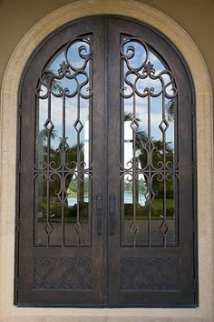 Wrought iron front door.   Double doors   Pinterest   Iron front door Wrought iron and Front doors & Wrought iron front door.   Double doors   Pinterest   Iron front ...