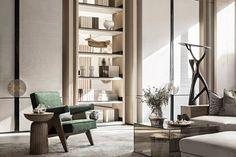 东原·启城——寄语自然 | 矩阵纵横-建e室内设计网-设计案例 Deco Furniture, Timeless Elegance, Wall Design, Dining Area, Bookshelves, Living Room Designs, Art Deco, Interior Design, House