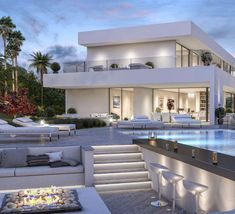 modern luxury villa montemayor alto marbella builders are want to say thanks i Modern Villa Design, Luxury Homes Dream Houses, Dream Beach Houses, Dream House Exterior, Dream Home Design, House Goals, Modern Luxury, Interior Modern, Luxury Homes Interior