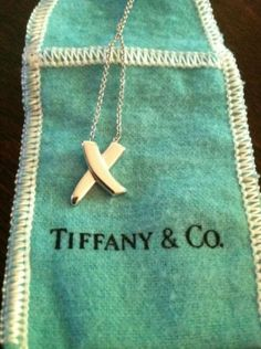 "100% Tiffany & Co. Paloma Picasso X Sterling Silver 16"" Jewelry $113"