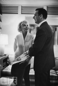 Marilyn and Yves Montand