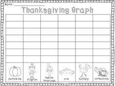 Thanksgiving Graph FREEBIE - Moore Fun In Kindergarten - TeachersPayTeachers.com