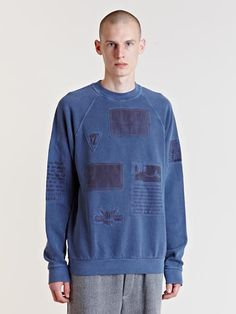 Raf Simons Archive AW04 Reinforced Patch Sweater.