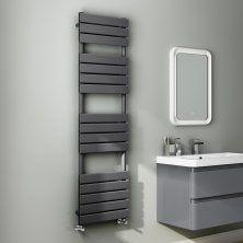 1600x450mm Anthracite Flat Panel Ladder Towel Radiator