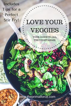 Tired of coming up with dinner ideas? This FREE guide has a list of all the vegetables you need to stay healthy, PLUS a few tips on how to build a perfect stir-fry! Click through to download.