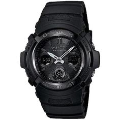 Pre-owned G-shock Awgm100b-1acr Blackout Solar Atomic Watch ($113) ❤ liked on Polyvore featuring jewelry, watches, accessories, black, pre owned watches, g shock watches, pre owned jewelry, buckle jewelry and g shock wrist watch