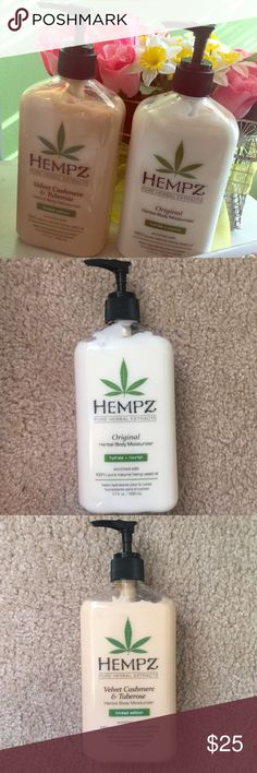 Hempz Full Sized Lotion Set Hempz Original and Limited Edition Velvet Cashmere and Tuberose 17 oz. lotion. May purchase as a set or separately (message me😊) Hempz Other