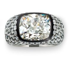 Hemmerle Ring with diamonds - white gold - silver