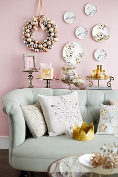 "A very wise woman once said, ""Leave a little sparkle wherever you go."" And in the spirit of sparkle, Pier 1 brings the Champagne Shimmer look to every tree, chimney and tabletop this holiday season. It's all about flirty, feminine colors. Metallic serveware. Pink champagne with a side of confetti. Are you feeling fabulous yet?"