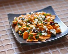 Moroccan carrot salad with harissa and feta cheese