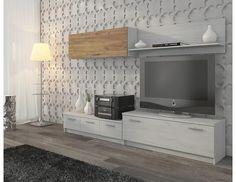 Obývací stěna Wall Unit Velmi moderní obývací stěna, která vyniká elegantním a jednoduchým designem. Díky dezénovým kombinacím, které lze vybrat, je obývací stěna velmi vkusnou součástí interiéru. Obývací stěna je vyrobená z kvalitního lamina o … Flat Screen, The Unit, Entertaining, Wall, Furniture, Design, Home Decor, Natural, Blood Plasma