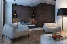 Creative Studio Apartment Design Ideas With Dark Color Shades - RooHome | Designs & Plans