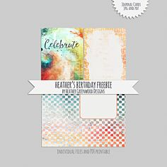 Heather Greenwood Designs | Journal Cards #freebie, individual JPGS and printable PDF included. #pocketscrapbooking