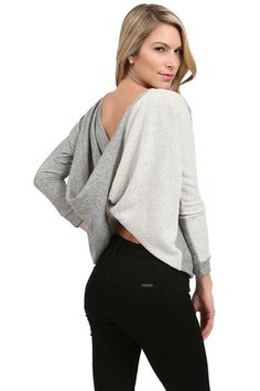 The Langston Top in Heather Grey by Woodleigh at CoutureCandy.com