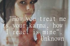#Karma - the truth always finds a way of coming out.