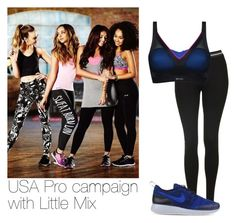 """""""USA Pro campaign with Little Mix"""" by swaglove ❤ liked on Polyvore featuring Topshop, Shock Absorber and NIKE"""