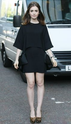 Fabulously Spotted: Lily Collins Wearing Stella McCartney - ITV Studios  - http://www.becauseiamfabulous.com/2013/08/fabulously-spotted-lily-collins-wearing-stella-mccartney-itv-studios/