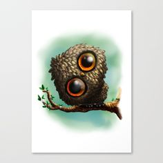 10% Off + Free Shipping Today! Lovely Owl Canvas Print by Shinja | Society6