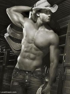 Cowboy abs sexy hot guys abs hat country guy cowboy fit