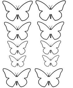 Moldes De Flores De Fieltro Para Imprimir – ConMoldes.com Butterfly Wall Art, Butterfly Crafts, Flower Crafts, Diy Flowers, Butterfly Mobile, Paper Flower Patterns, Tissue Paper Flowers, Paper Butterflies, Felt Patterns