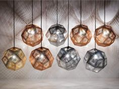 """Etch Collection"" lamps - Tom Dixon"