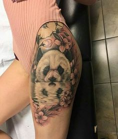... | Thigh tattoos for females Lion thigh tattoo and Lion tattoo