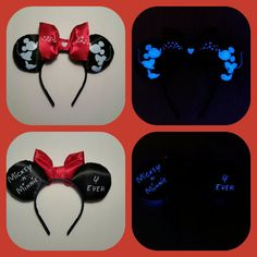 Hey, I found this really awesome Etsy listing at https://www.etsy.com/listing/263709452/glow-in-the-dark-mickey-and-minnie