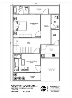 House Floor Plan In Feet House Plan Feet Indian Plan Ground Floor For Details 1100 Square Foot House Plan Layout House Layout In 2019 1000 Sq Ft House Plans Bedrooms 2 Baths 2bhk House Plan, House Plan With Loft, Narrow Lot House Plans, Simple House Plans, House Layout Plans, House Plans And More, House Layouts, Story House, 20x30 House Plans