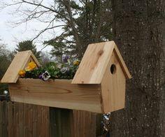 cedar double bird house planter this is such a cute idea!!