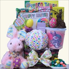 Hoppin' Easter Fun Easter Basket For Girls Ages 3-5 Years Old