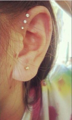 triple forward helix piercing - Google Search